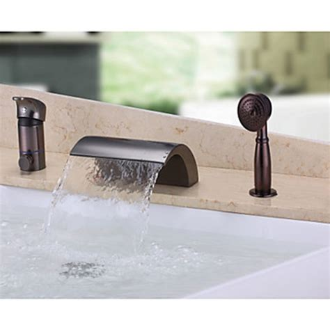 oil rubbed bronze bathtub faucet antique design waterfall wall mounted oil rubbed bronze