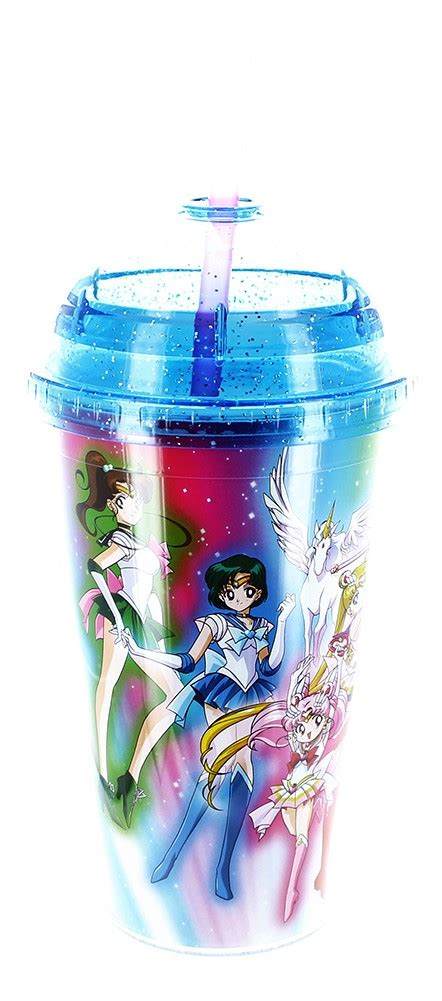 Cailyn Carnival Glitter Moonrise 12 sailor moon 16oz carnival cup with glitter dome lid jet