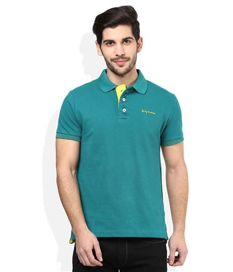 Kaos Polos Tshirt Teal Solid being human green solid polo t shirt snapdeal price collared or polos deals at snapdeal being