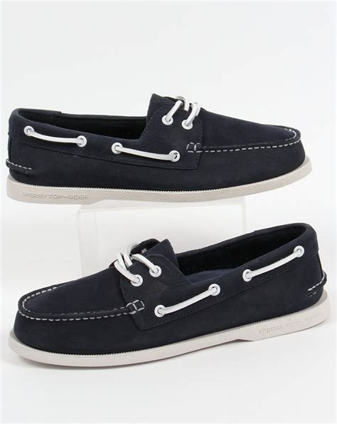 sperry washable boat shoes sperry authentic original 2 eye washable boat shoe navy