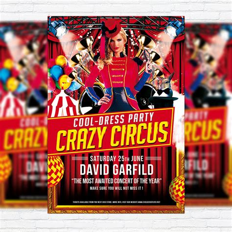 Circus Flyer Template by Circus Premium Flyer Template Cover