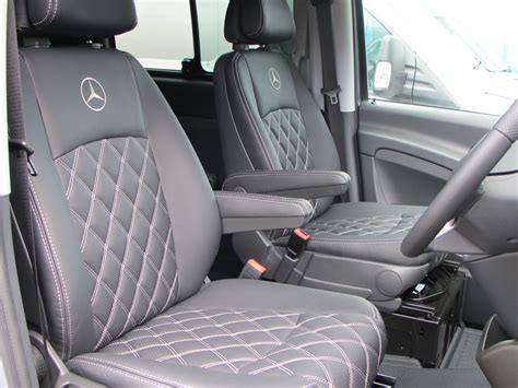 mercedes sprinter leather seat covers mercedes vito 2 seater bespoke design seat surgeons
