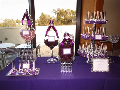 12 Best Images About Purple Candy Dessert Table On Purple Wedding Buffet