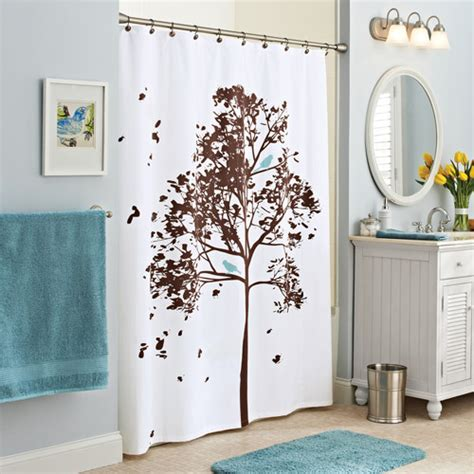 walmart bird shower curtain better homes and gardens farley tree fabric shower curtain