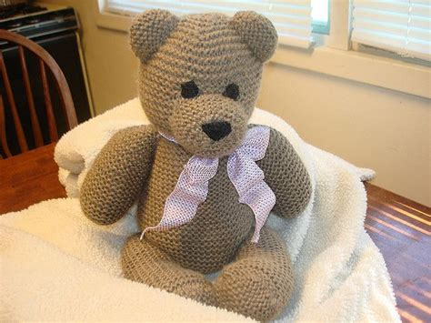 knitting pattern teddy bear free knit teddy bear pattern diy hooks yarn pinterest