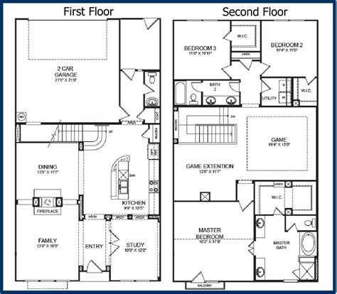 two floor house plan image of ranch house floor plans free waveny house floor