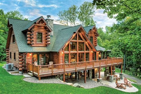 Small Cabin Floorplans by The Right Wood Species For Your Log Home