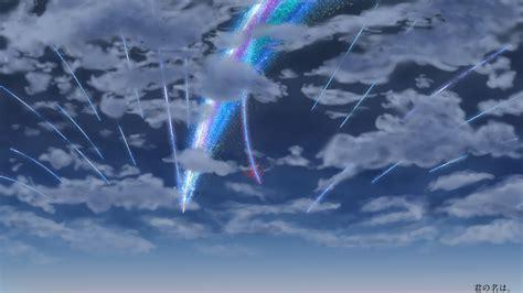 Kaos Kimi No Na Wa Your Name Sky Hobiku Anime Store 1366x768 your name kimi no na wa clouds sky