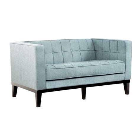 roxbury sofa armen living roxbury loveseat in spa blue lc10102sb