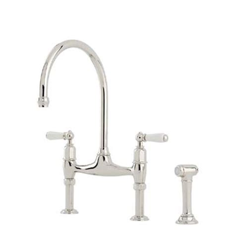 Kitchen Sink Rinse Wash Gun Perrin Rowe Ionian Two Sink Mixer With Porcelain