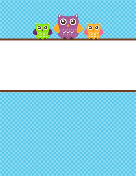 free printable binder covers no download free printable owl binder cover template download the