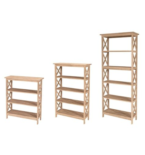 30 inch x sided bookcases bare wood wood