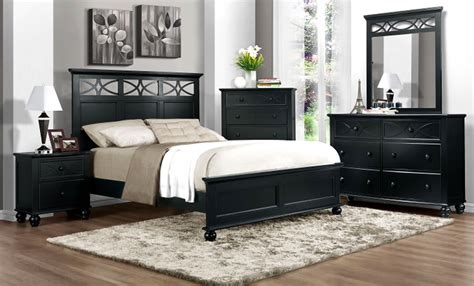 bedrooms with black furniture bedroom decorating ideas in black and white home delightful