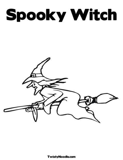 scary witch coloring coloring pages