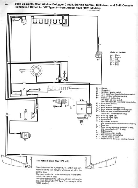 71 vw squareback fuse box 71 vw wiring diagram