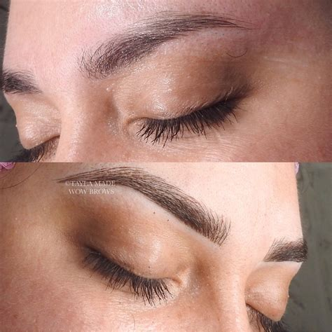 feather touch eyebrow tattoo hair stroke feather touch microblading microstroke
