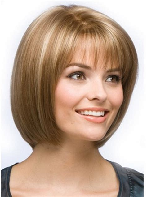 double bob haircut pictures of short hairstyles for camouflage a double chin