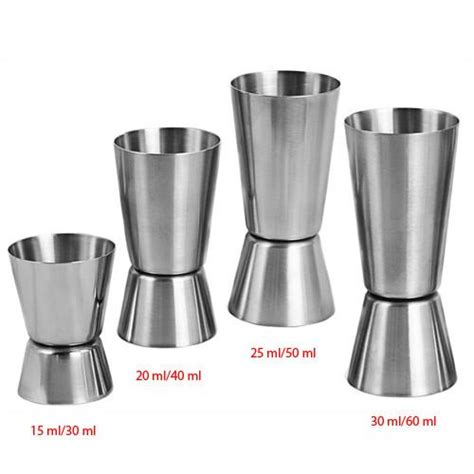 Jigger Stainless 25 50 Ml metric jigger 25 ml 50 ml tcb