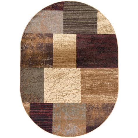 10 Ft By 7 Ft Rugs - tayse rugs elegance multi 7 ft x 10 ft oval indoor area