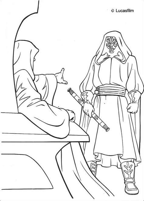 star wars darth maul coloring page darth maul und der imperator zum ausmalen de hellokids com