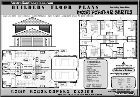 duplex townhouse floor plans australian dream home design 4 bed room house plan 350
