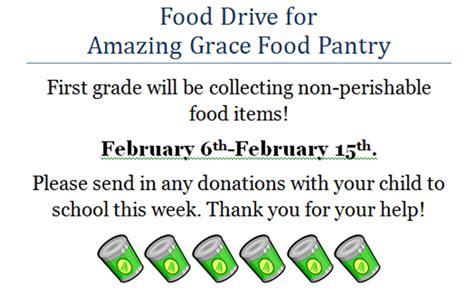 Amazing Grace Food Pantry macdonough school food drive for the amazing grace food pantry