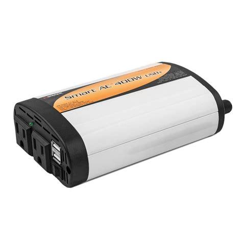 Visero Power Inverter 400 Watt wagan tech slim line 400 watt 1 000 watt inverter with usb 2003 5 the home depot