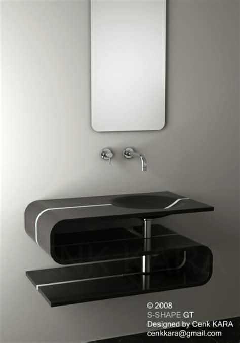designer sink s shaped sink design