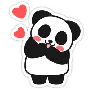 Panda Wall Stickers quot panda cute cute sticker quot stickers by i got a bear redbubble