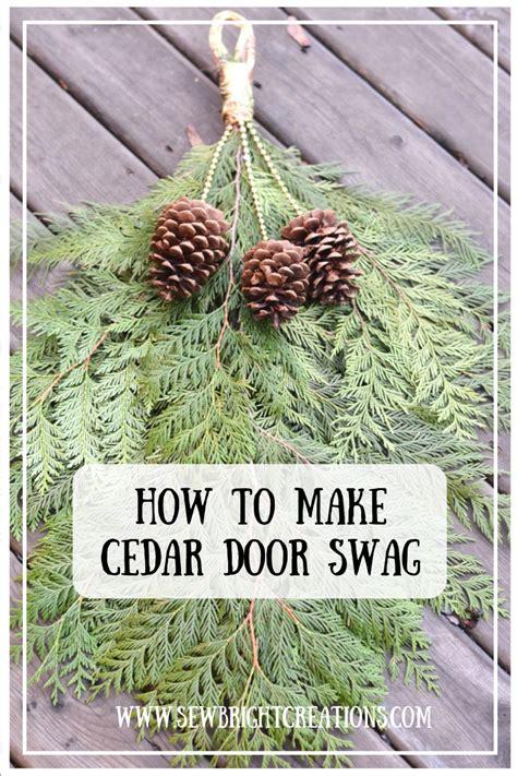 cedar door swag sew bright creations cedar