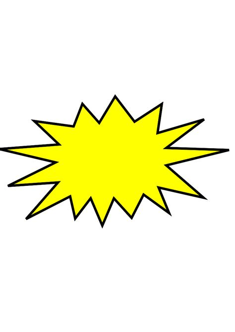 yellow starburst clipart best