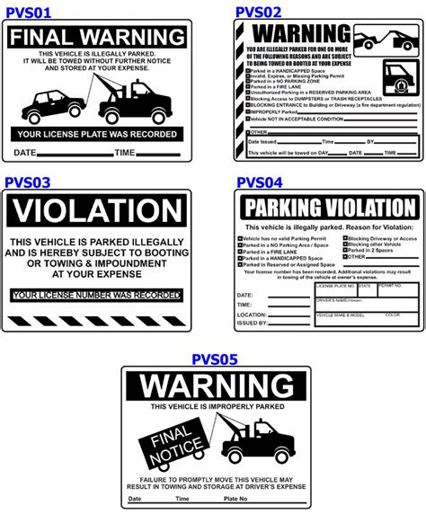 Parking Violations Stickers Custom Illegally Parked Warning Notices K12parkingpermits Com Parking Warning Notice Template