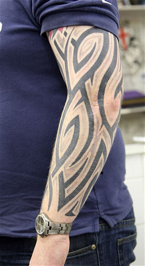 tribal tattoos with shading tribal shaded 02 www