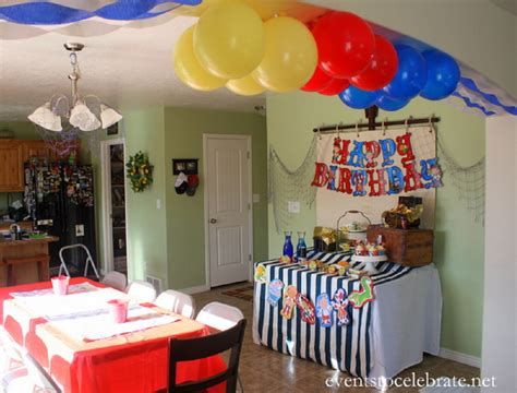how to decorate a birthday party at home