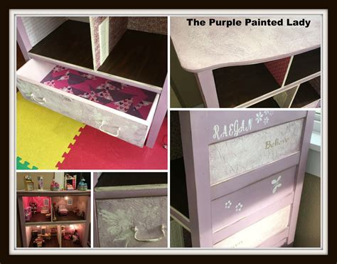 chalkboard paint purple cabinets kitchen distressed crackle finish cabinet