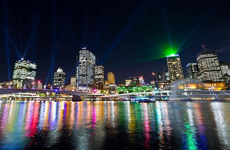 brisbane festival city of lights santos laser lights