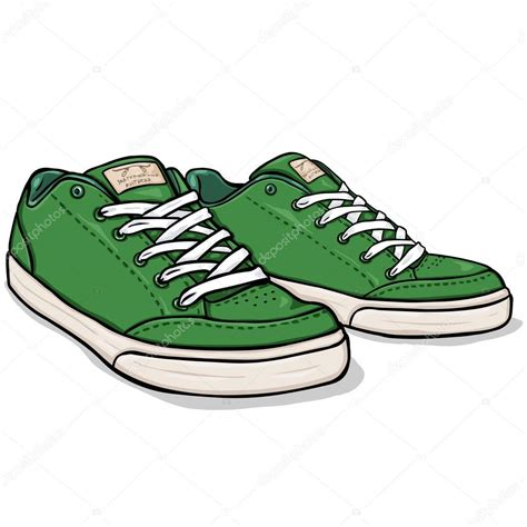 imagenes vectoriales de zapatos vector de dibujos animados patinadores verde zapatos