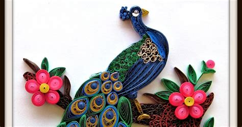 paper quilling peacock feather tutorial daydreams quilled peacock
