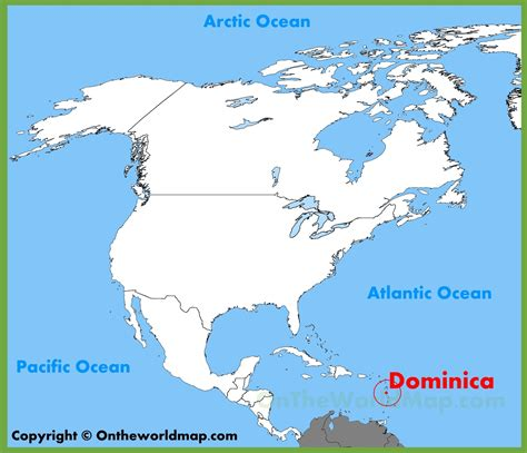 dominica on world map dominica location on the america map