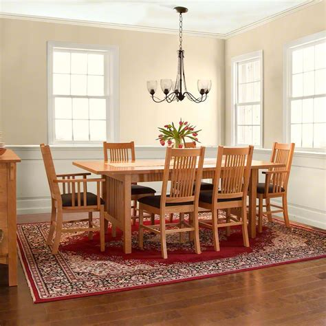 mission dining room table american mission dining table vermont woods studios