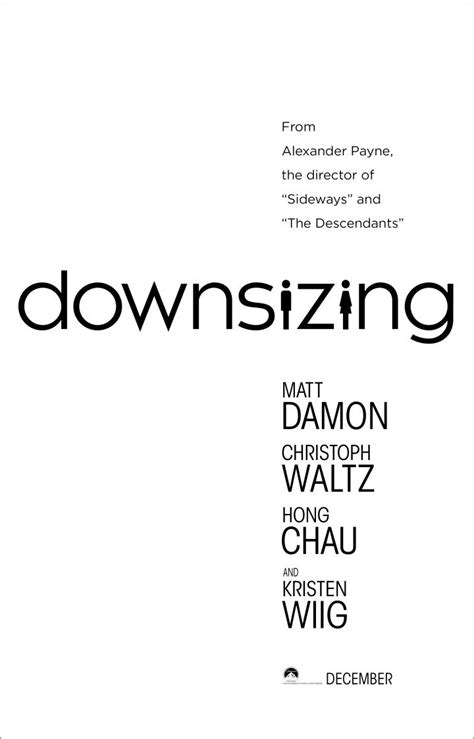 down sizing downsizing movie poster teaser trailer