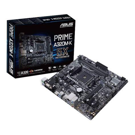 Diskon Mb Asus Prime A320m K Am4 asus prime a320m k am4 micro atx motherboard prime a320m k mwave au