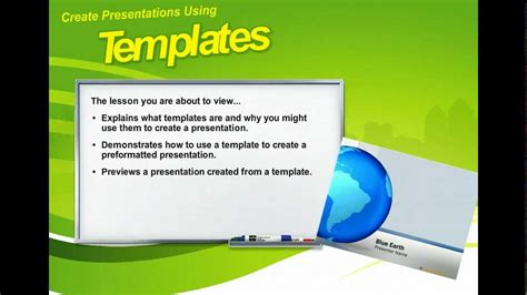 Powerpoint 2010 Create Presentations Using Templates Microsoft Office 2010 Training Youtube Microsoft Powerpoint Templates 2010
