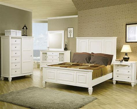 sandy beach bedroom set white coaster sandy beach bedroom set in white co 201301 set