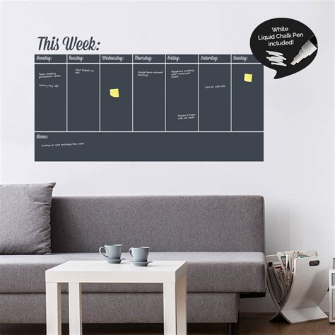 erase wall stickers write and erase weekly planner wall sticker by sirface