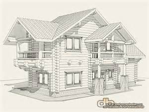 3d House Sketch 3d sketch design architectural concept example