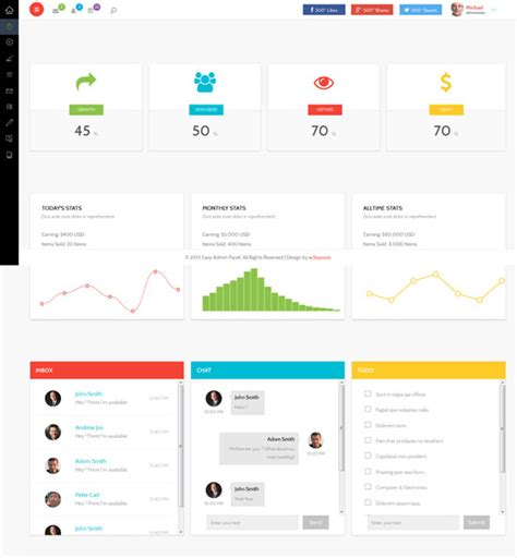 free bootstrap admin panel template choice image