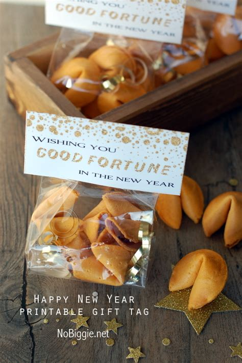 new year and fortune cookies fortune cookie treat bag topper printable