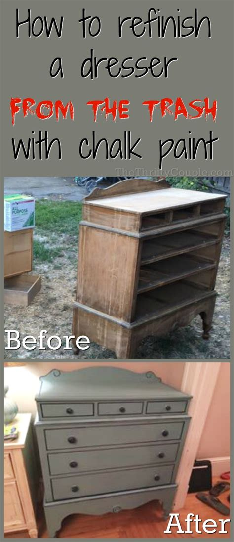 diy chalk paint brand from trash to treasure how to refinish a trashed dresser