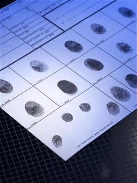 Background Check Fingerprint How To Fill Out An Fbi Fingerprint Card Ehow
